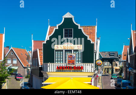 Amsterdam, Waterland district, Volendam, typical houses and shops of the town center - Stock Photo