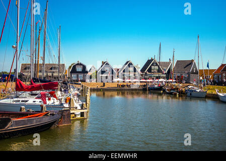 Amsterdam, Waterland district, Marken, the little harbour - Stock Photo