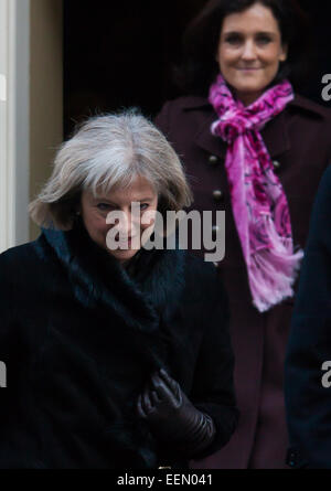 Downing Street, London, UK. 20th January, 2015. Ministers leave the weekly cabinet meeting at Downing Street. PICTURED: - Stock Photo