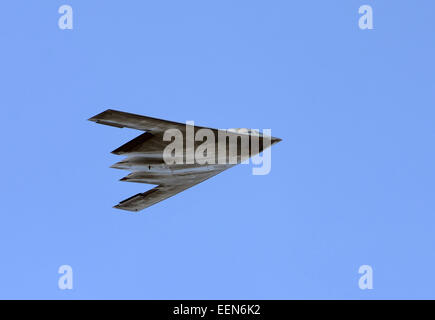 Modern US stealth bomber in flight B-2 Spirit - Stock Photo