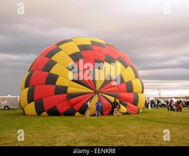 ALBUQUERQUE - OCTOBER 7: Crew prepare for the Hot Air Balloon Fiesta in Albuquerque, new Mexico on October 7, 2011.