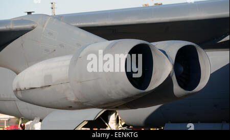 Jet engines from heavy nuclear bomber B-52 Stratofortress - Stock Photo
