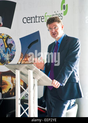 The then Minister for Cities, Universities and Science Greg Clark (constituency Tunbridge Wells) addresses a Centre - Stock Photo