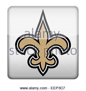 New Orleans Saints logo icon - Stock Photo