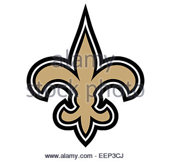 New Orleans Saints logo icon symbol - Stock Photo
