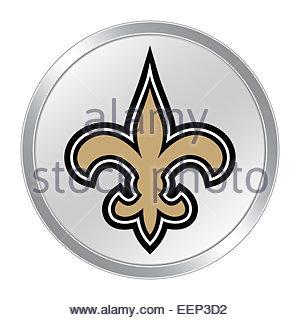 New Orleans Saints logo icon button - Stock Photo