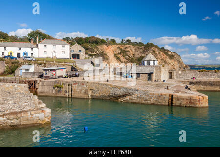 Beautiful sunny summers day at Charlestown Harbour  near St Austell Cornwall England UK Europe - Stock Photo