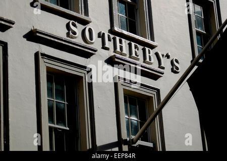 Sotheby's, New Bond Street, London, England, UK - Stock Photo