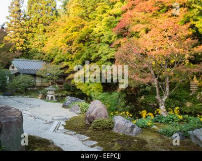 Leaping Tiger garden of Nanzen-ji temple - Stock Photo