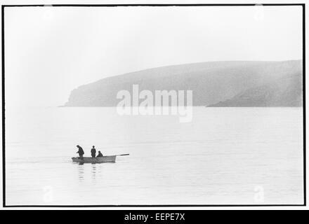 Fishing, Sandwick, Shetland. - Stock Photo