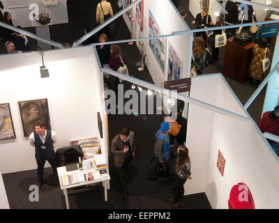 London, UK. 20th Jan, 2015. London Art Fair opened today, at the Islington Business Design Centre. Over view of - Stock Photo