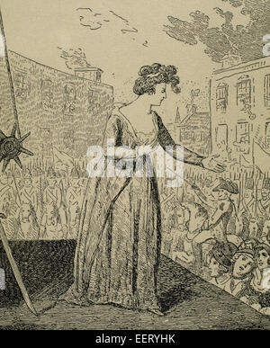 The public execution of Louis XVI by guillotine on 21 ...