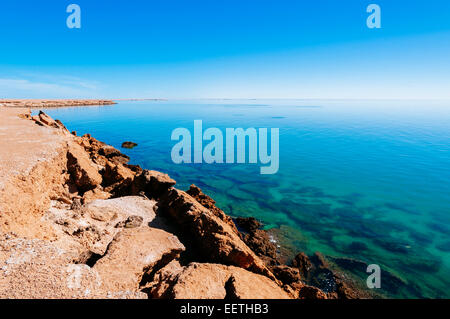 Cliffs, Dakhla, Western Sahara, Morocco. - Stock Photo