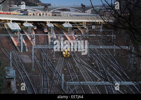 Waverley Station, Edinburgh, Scotland - Stock Photo
