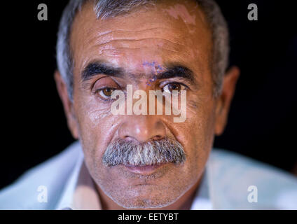 Kurdish Wounded Veteran, Sulaymaniyah, Kurdistan, Iraq - Stock Photo