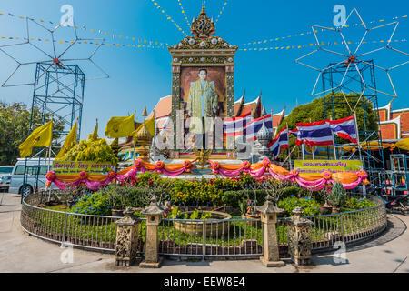 king of Thailand memorial Ayutthaya Bangkok Thailand - Stock Photo