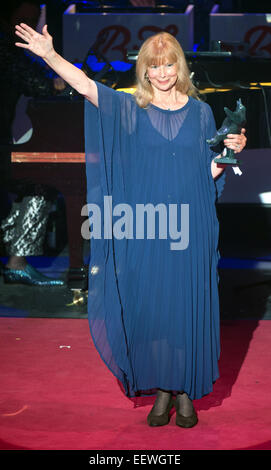 Award-winnter Ursula Monn gives thanks at the B.Z. Culture Awards ceremony in the Komische Oper inBerlin,Germany, - Stock Photo