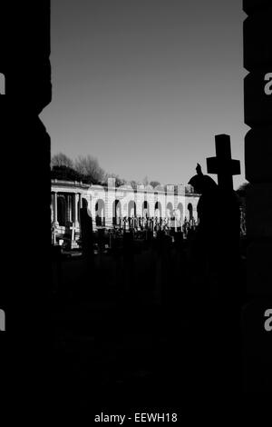 Brompton Cemetery colonnade, London, UK - Stock Photo