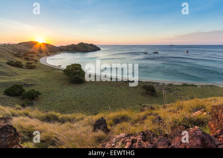 Sunset in Komodo Island - Stock Photo
