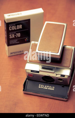vintage polaroid film stock photo, royalty free image