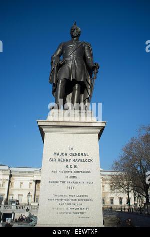 Statue of Major General Sir Henry Havelock in Trafalgar Square