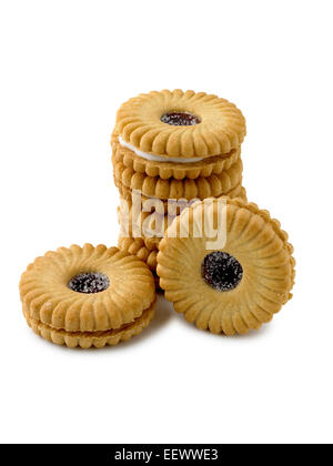jammy dodger biscuits - Stock Photo