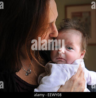 Guilford CT USA- Guilford First Selectwoman, Cindy Cartier and her husband, adopted 10-week-old Samantha (Cartier), - Stock Photo