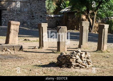 The 17th century church of Saint Mary of Zion, Axum, Ethiopia - Stock Photo