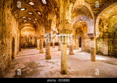 The Arab Public Baths dating from the 11th-12th Centuries in Ronda, Spain. - Stock Photo