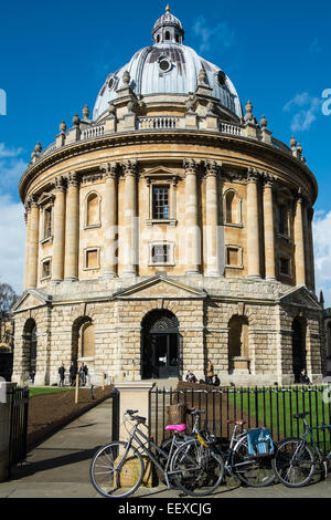 The Radcliffe Camera building, part of the Bodleian Library at Oxford University, Oxfordshire - Stock Photo