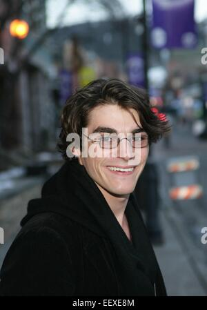 Park City, UT, USA. 22nd Jan, 2015. RJ Mitte out and about for 2015 Sundance Film Festival Candids - THU, Park City, - Stock Photo