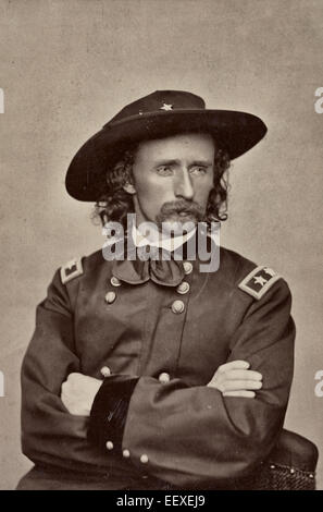 Major General George Armstrong Custer of 2nd Regular Army Cavalry Regiment, 5th Regular Army Cavalry Regiment, Aide - Stock Photo