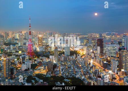 Tokyo by night - Stock Photo