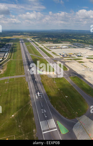 Aerial view of London Gatwick Airport  Where: Crawley When: 09 Jul 2014 - Stock Photo