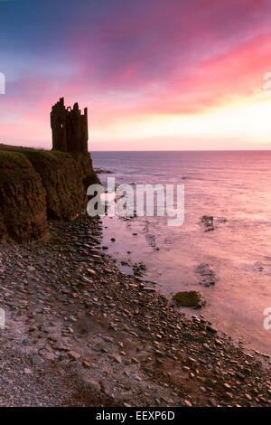 Caithness, Keiss Castle - Stock Photo