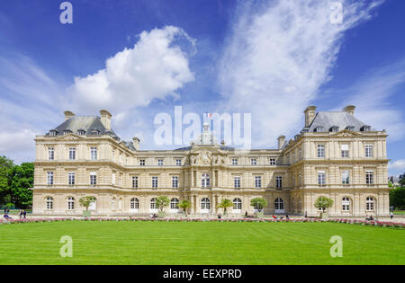 Palais du Luxembourg, Jardin du Luxembourg, 6th arrondissement, Paris, France - Stock Photo