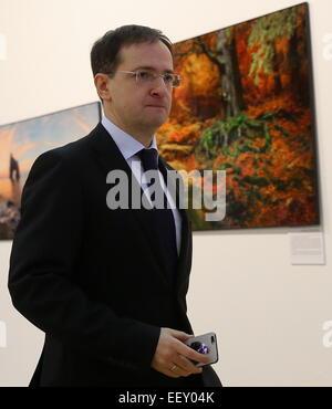 Moscow, Russia. 23rd Jan, 2015. Russian Culture Minister Vladimir Medinsky attends the Pervozdannaya Rossiya [Primeval - Stock Photo