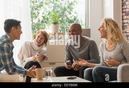 People hanging out in living room