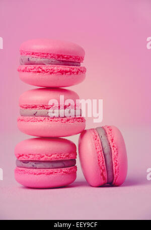 traditional french macarons – stock photo - Stock Photo