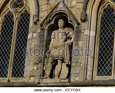 Statue of King George III in Roman dress above the,Bargate Southampton Hampshire England UK - Stock Photo