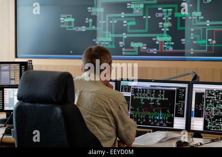 Neuenhagen, Germany, 50Hertz Transmission Control Center - Stock Photo