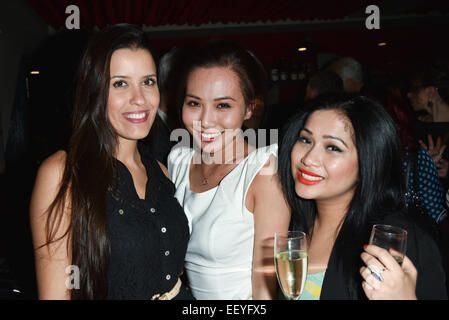 London,UK, 22nd January 2015 : Staffs at the House of Ho 1st Birthday Party at Soho, London. Credit:  See Li/Alamy - Stock Photo