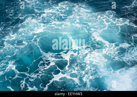 Deep blue ocean water in Buracona in Sal island in Cape verde - Stock Photo