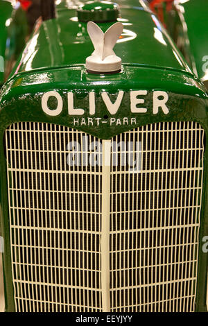 Front grill of an antique Oliver tractor Stock Photo - Alamy