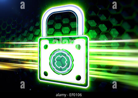 Padlock as a symbol of information safety - Stock Photo