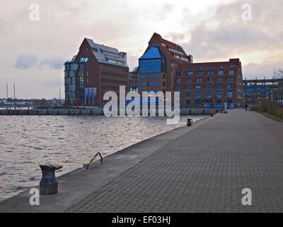Look at the memory peninsula in Rostock. - Stock Photo