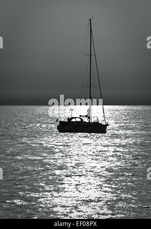 A sailing boat on the Baltic Sea.