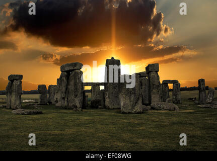 Stonehenge Sunrise - Stock Photo