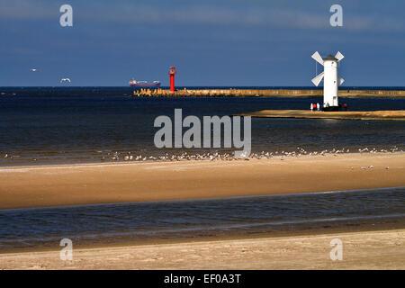 Lighthouses in Swinoujscie. - Stock Photo