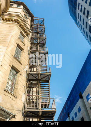 House With Metal Fire Escape Stairs Ladders Manhattan